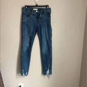 Gap hi rise distressed slim straight jeans. Sz 2.
